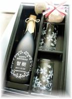「和」ボトル720ml&ペア桜グラスset