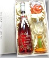 フルボトルワイン&グラス090