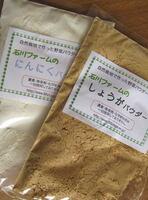 石川ファーム 野菜パウダー 【ヘルシーセット(しょうが・にんにく)】