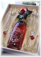 【限定】ピンク・リゴルロゼ750ml&ペアグラス豪華木箱セット