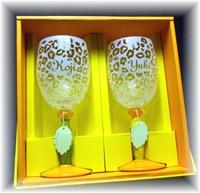 〜ヒョウ柄〜ワイングラス