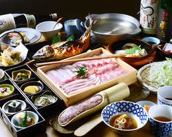 浜焼き鯖と挽きぐるみ蕎麦 きばり 接待 個室