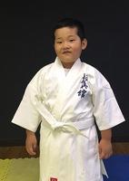 大木 智樹君 小学1年生が入門しました。