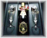【限定】スパークリングジュース&キラキラゴールドグラスセット