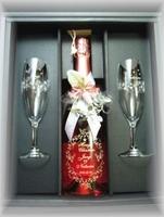 【限定】スパークリングワイン750ml&キラキラグラスセット