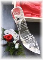 【フラワー付き/シンデレラのガラスの靴・豪華木箱】